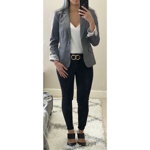 H&M Grey Lined Blazer size 4 (small)